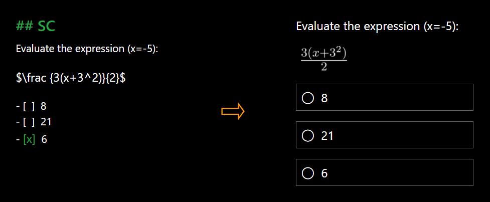 Markdown Quiz and Survey